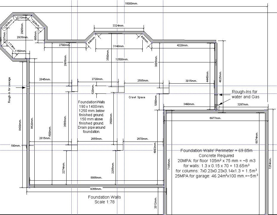 Foundation plan for a garage house plans home designs for Garage foundation plans