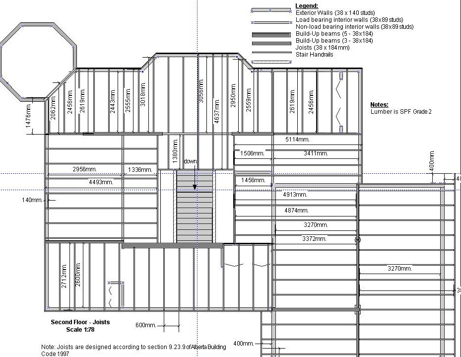 The house i built getting permits for Floor framing plan